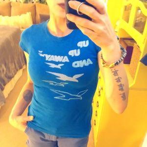 Blue Graphic Beach T-shirt